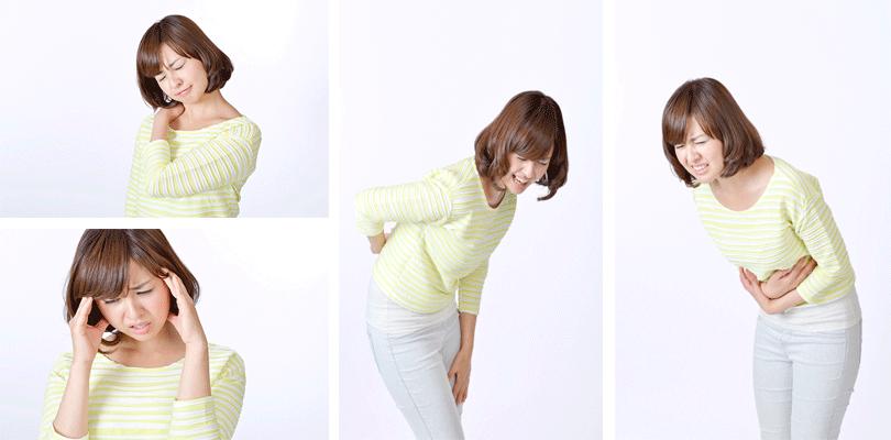 頭痛や腰痛など以下の症状にお悩みの方はご相談ください。